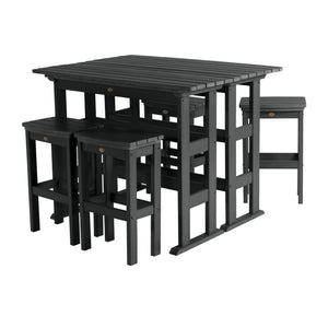 Lehigh 6pc Bar Height Balcony Set Highwood USA Black