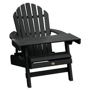 1 Hamilton Folding & Reclining Adirondack Chair with 1 Adirondack Laptop/Reading Table Kitted Sets Highwood USA