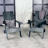 Set of Two Barcelona Modern Adirondack Chairs Highwood USA