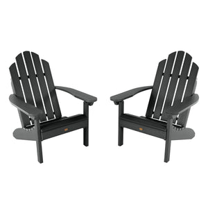 Set of Two Classic Westport Adirondack Chairs Highwood USA Black