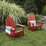 Set of Two Classic Westport Adirondack Chairs Highwood USA