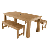 Lehigh 3pc 37in x 72in Rectangular Dining Set Highwood USA Toffee