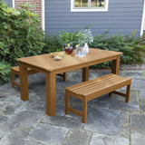 Lehigh 3pc 37in x 72in Rectangular Dining Set Highwood USA