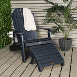 King Hamilton Folding & Reclining Adirondack Chair, Ottoman & Cup Holder Highwood USA