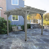 Bodhi 10' x 10' DIY Pergola with 4' Weatherly Porch Swing Highwood USA