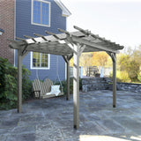 Bodhi 10' x 10' DIY Pergola with 4' Classic Westport Porch Swing Highwood USA