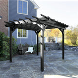 Bodhi 10' x 12' DIY Pergola with 4' Classic Westport Porch Swing Highwood USA
