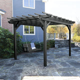 Bodhi 12' x 12' DIY Pergola with 4' Lehigh Porch Swing Highwood USA