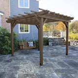Bodhi 12' x 12' DIY Pergola with 4' Weatherly Porch Swing