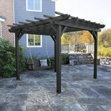 Bodhi 12' x 12' DIY Pergola with 4' Weatherly Porch Swing Highwood USA