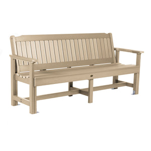 Commercial Grade Exeter 6' Garden Bench Sequoia Professional Tuscan Taupe