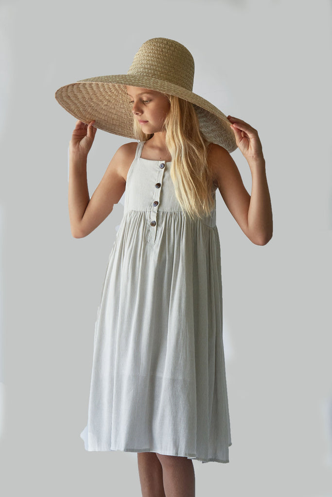 Picnic Dress | Bone Stripe