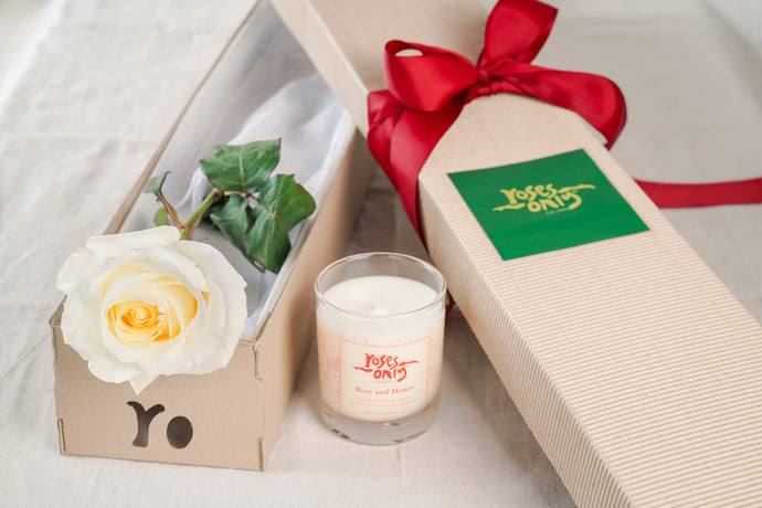 Single White Rose And Duft & Chandelle Soy Candle