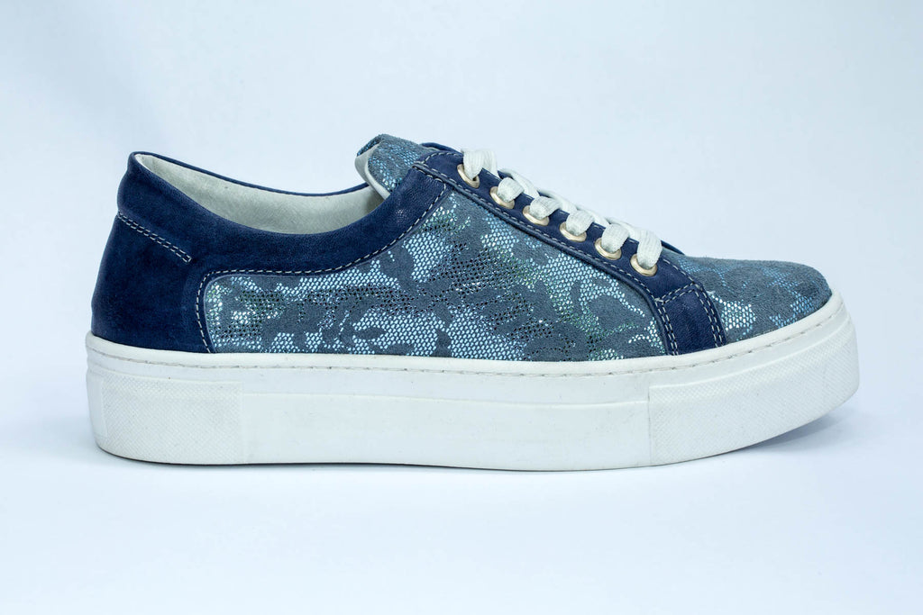 SK Women's Blue Ocean leather sneakers