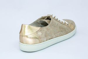 SK Women's Golden Flower leather sneakers