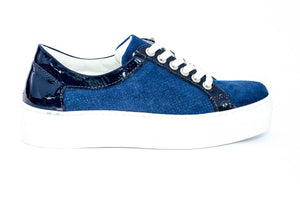 SK Deep Sea Leather Platform Sneakers