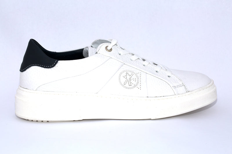 SK Men's White Dove leather sneakers