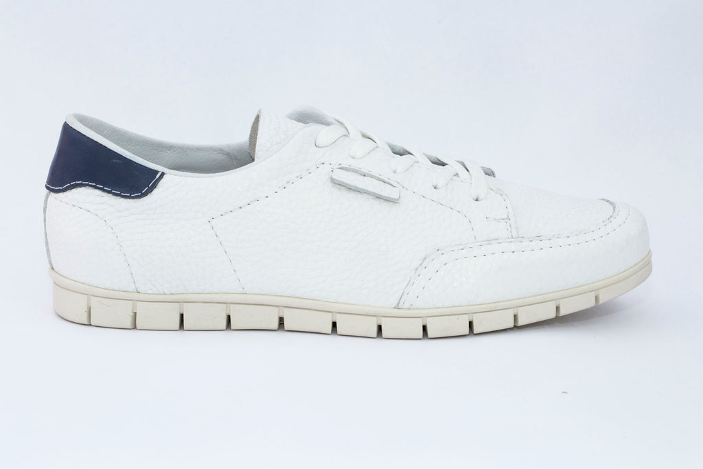 SK Men's White Arnold leather sneakers