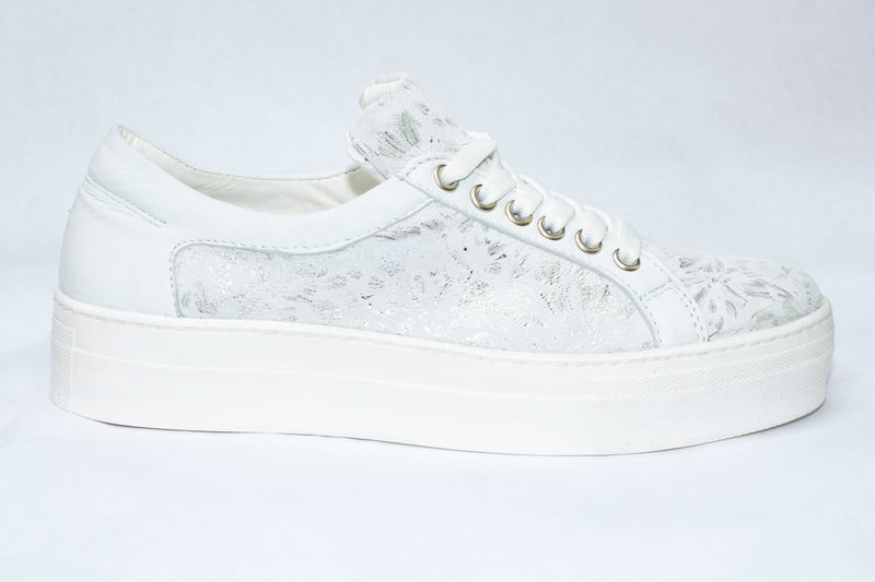 SK Women's Arctic Flower Leather Platform Sneakers
