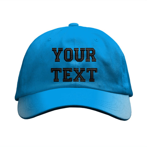 Custom Personalized Embroidered Text on any color Dad Hat Cap - New