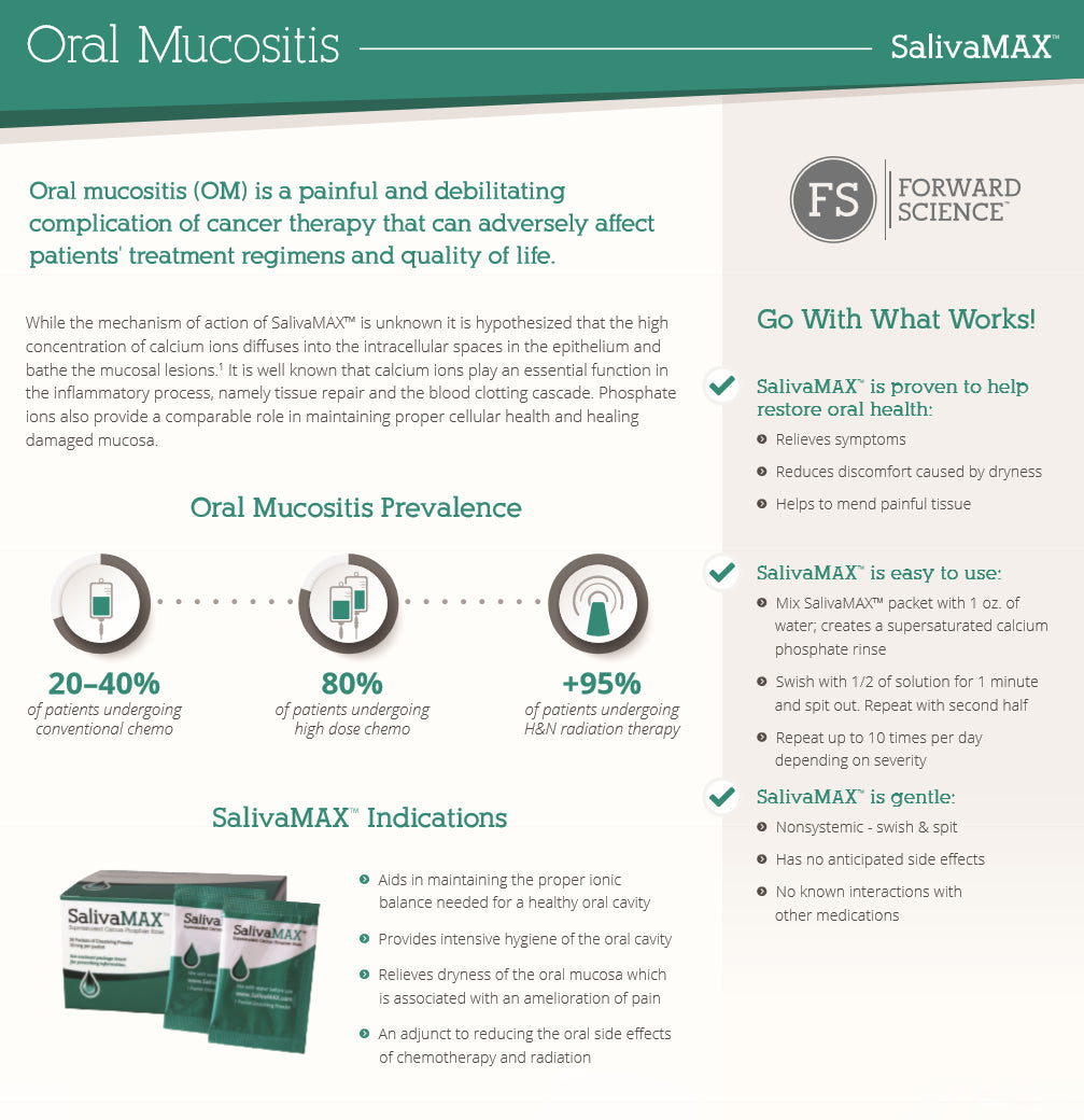 Supersaturated Calcium Phosphate for Prevention and Treatment of Oral Mucositis