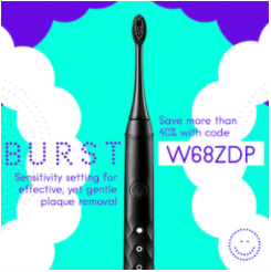 Burst Toothbrush, Whitening Teeth, Removing Plaque Build Up