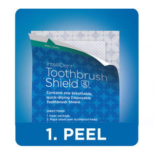 IntelliDent™ Toothbrush Shields 10 Count Box - Side Effect Support LLC