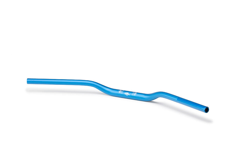 LSL 28.6mm Aluminium Superbike Flat Fat Bars(Colour:Blue)