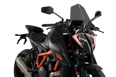 Puig Naked New Generation Touring Screen To Suit KTM 1290 Super Duke R (2020) - Dark Smoke