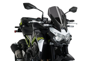 Puig Naked New Generation Touring Screen To Suit Kawasaki Z900 (2020 - Onwards) - Dark Smoke