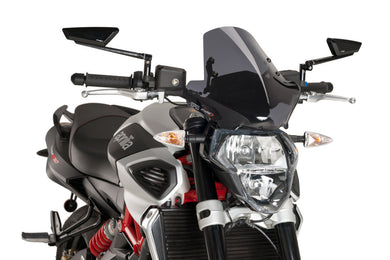 Puig Naked New Generation Sport Windshield To Suit Aprilia Shiver 750 2007-2020 (Dark Smoke)