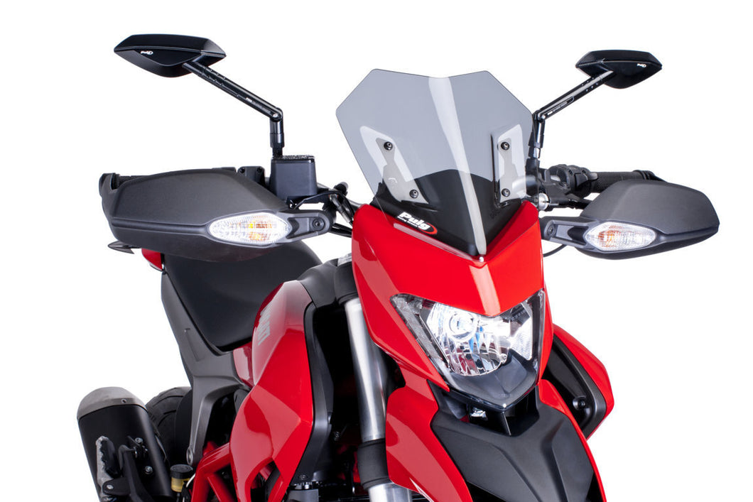 Puig New Generation Sport Screen Compatible With Ducati Hypermotard 821/SP/939/SP (Light Smoke)