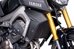 Puig Radiator Side Covers To Suit Yamaha MT-09 (2013 - 2016) (Matte Black)
