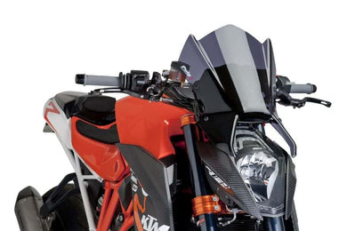 Puig Windshield New Generation Sport (Dark Smoke) KTM 1290 Superduke R 2012-Onwards