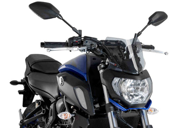 Puig Naked New Generation Sports Screen To Suit Yamaha MT-07 (2018 - 2020) (Smoke)