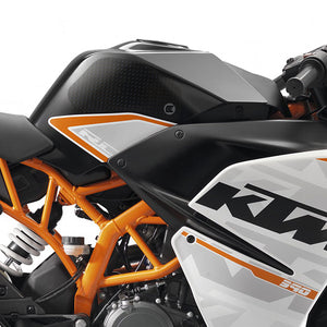 Eazi-Grip EVO Tank Grips for KTM RC125  200 and 390  clear