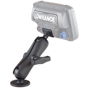 RAM-101-LO11 - RAM C Size 1.5  Ball Marine Electronic  RUGGED USE  Mount for Lowrance Elite-5, Mark-5, Hook-5  Elite 7 Ti Fishfinders