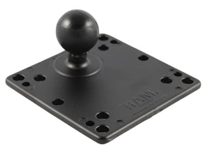 RAM-246-AD1U - RAM 4.75  Square Base with VESA (4 X 75mm) (4 X 100mm) Hole Patterns  1.5  Ball