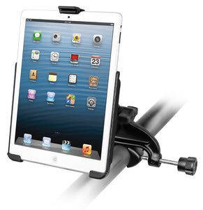 RAM-B-121-AP14U - RAM Yoke Clamp Mount with EZ-ROLLR Model Specific Cradle for the Apple iPad mini WITHOUT CASE, SKIN OR SLEEVE