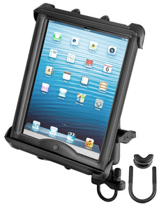 RAM-B-149Z-TAB8U - RAM Handlebar or Rail Mount with Tab-Tite Universal Clamping Cradle for Large Tablets WITH HEAVY DUTY CASES