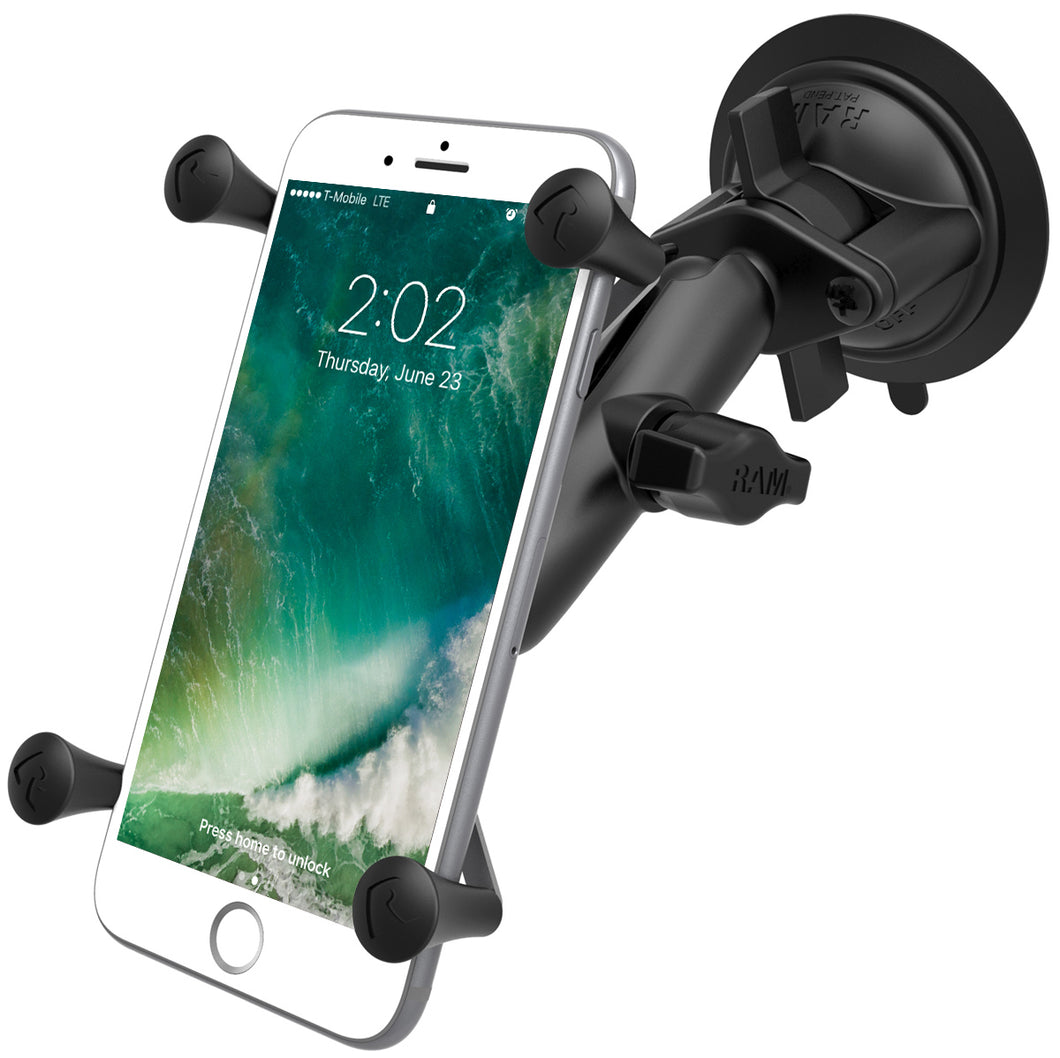 RAM-B-166-UN10U - RAM Twist-Lock Suction Cup Mount with Universal X-Grip Large Phone/Phablet Cradle