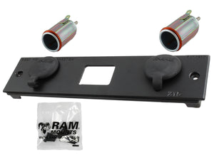 RAM-FP2-CIG2-BLOCK - X15 RAM DOUBLE FEMALE CIG POWER BLOCK