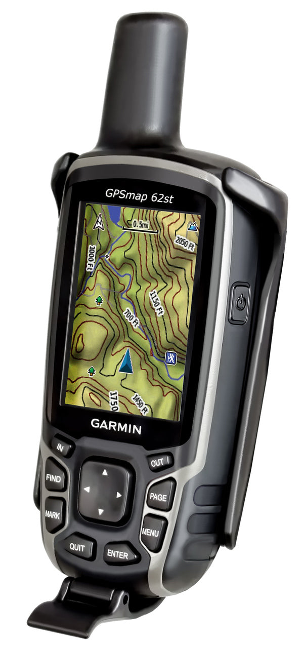 RAM-HOL-GA41U - RAM Cradle Holder for the Garmin Astro 320, GPSMAP 62, 62s, 62sc, 62st  62stc