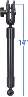 RAP-BB-230-14-201U - RAM 14  Long Extension Pole with (2 qty) 1  Diameter Ball Ends, and Double Socket Arm