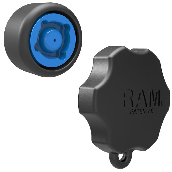RAP-S-KNOB6-4U - RAM 4 Pin-Lock Security Knob and Key Knob for RAM Swing Arms
