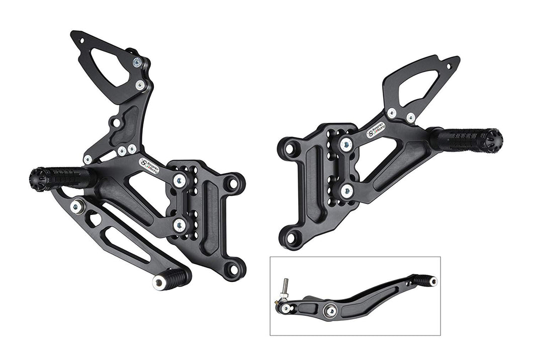 Bonamici Racing Rearsets To Suit Yamaha R1 (2004-2006) - Race Version