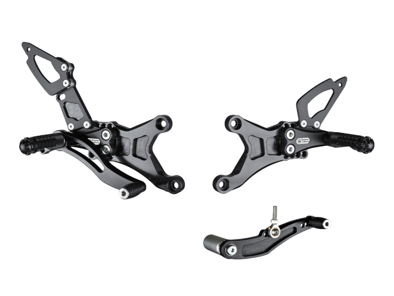 Bonamici Racing Rearsets To Suit Yamaha R1 (2007-2008) - Street Version