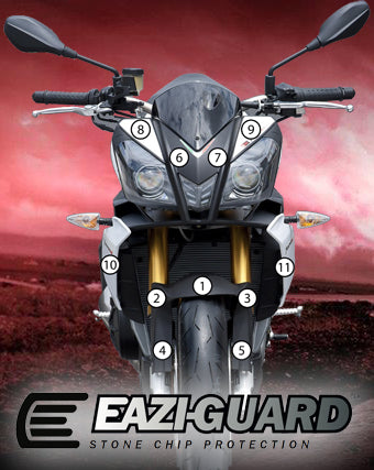 Eazi-Guard Stone Chip Paint Protection Film for Aprilia Tuono V4 R 2011 - 2014