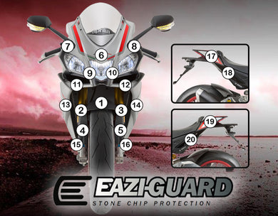 Eazi-Guard Paint Protection Film (Matte) for Aprilia RSV4 2015 - 2017