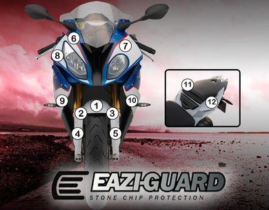 Eazi-Guard Paint Protection Film (Matte) for BMW S1000RR 2015 - 2017